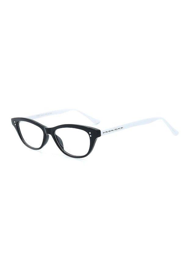 Óculos de Grau Prorider Retro Preto e Branco - CR57C3