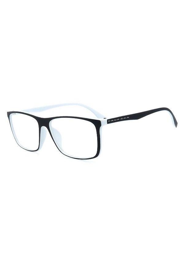 Óculos de Grau Prorider Preto e Branco Fosco - GP046-1