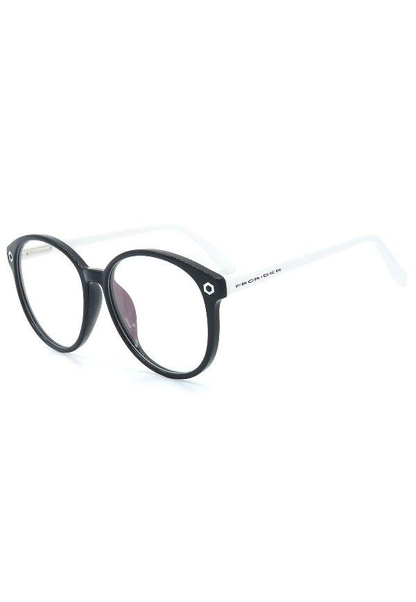 Óculos de Grau Prorider Retro Preto e Branco - SL7034C4