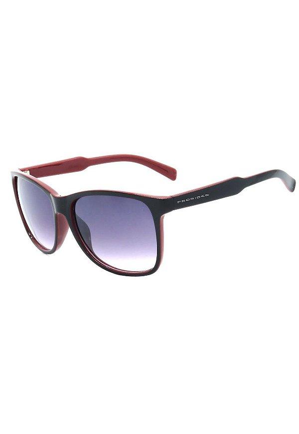 Óculos de Sol Prorider Preto e Vermelho com Lente Degrade - DM-069-3