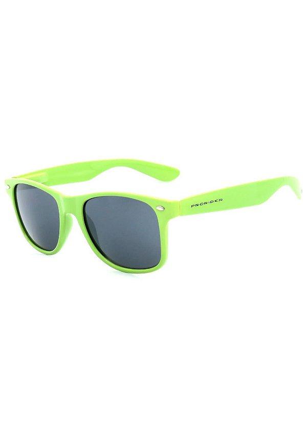 Óculos de Sol Prorider Retro Verde com Lente Fumê - W-394
