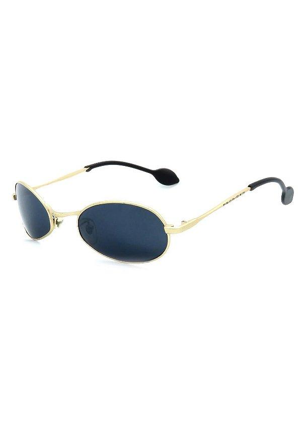 Óculos de Sol Retro Prorider Dourado com Lente Fumê - 942139
