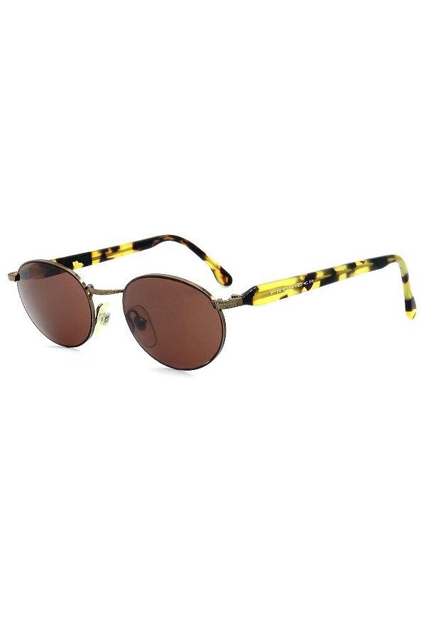 Óculos de Sol Retro Prorider Marrom com Animal Print - CA127