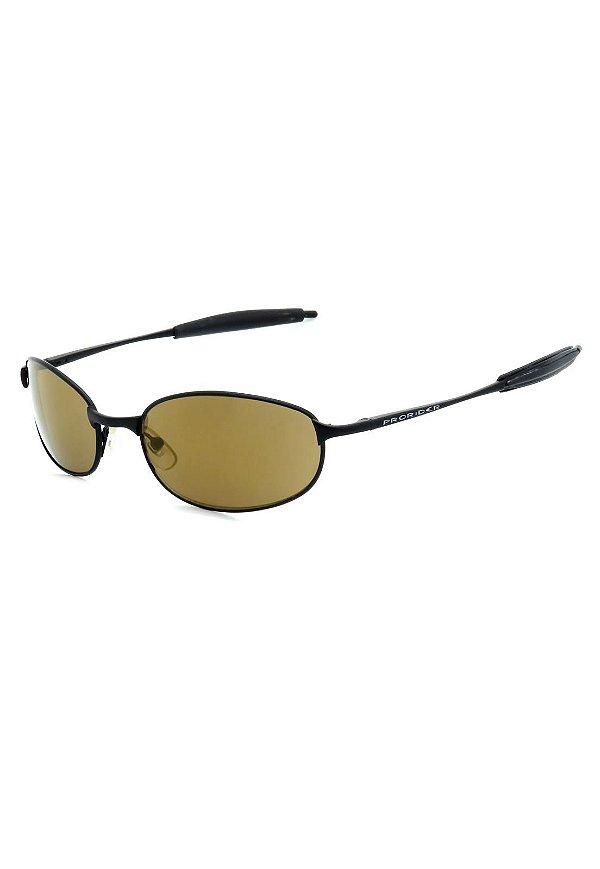 Óculos de Sol Prorider Retro Preto com Lente Marrom - AC3900