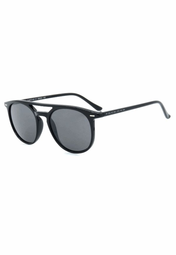 Óculos de Sol Retro Prorider Preto com Lente Fumê - CJH72140C1