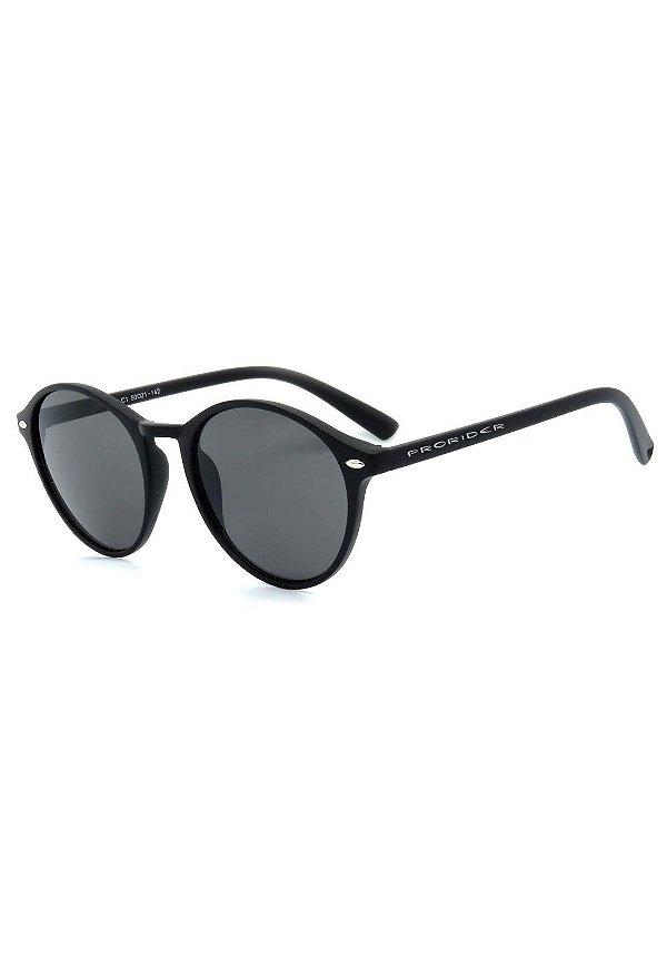 Óculos de Sol Prorider Preto Fosco com Lente Fumê - CJH72101C1
