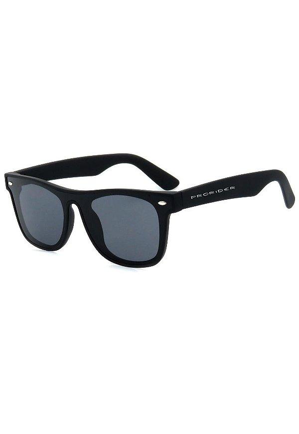 Óculos de Sol Prorider Preto Fosco com Lente Fumê - GP231-1