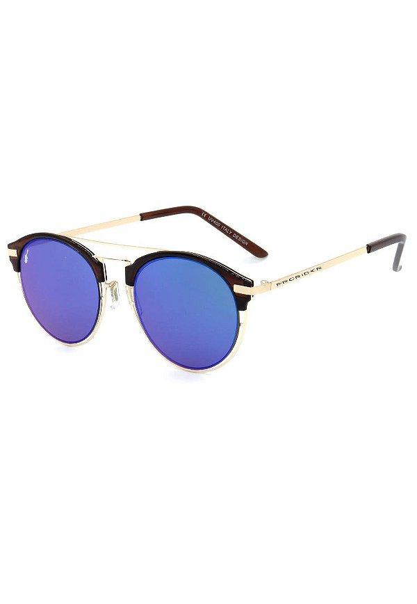 Óculos De Sol Prorider Dourado com Lente Espelhada - H01469C7