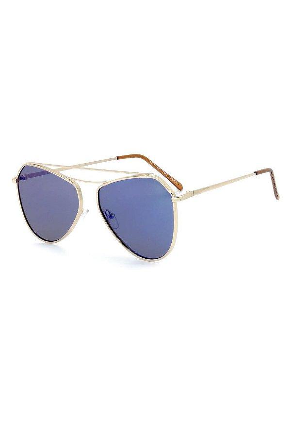 Óculos De Sol Prorider Dourado com Lente Espelhada - H01501C4