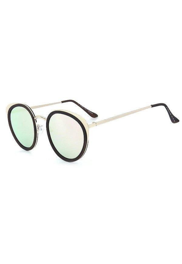 Óculos De Sol Prorider Dourado com Lente Espelhada - H01473C2