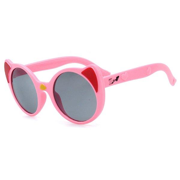 Óculos de Sol Infantil Z-JIM em Grilamid® TR-90 Gatinho Redondo Rosa