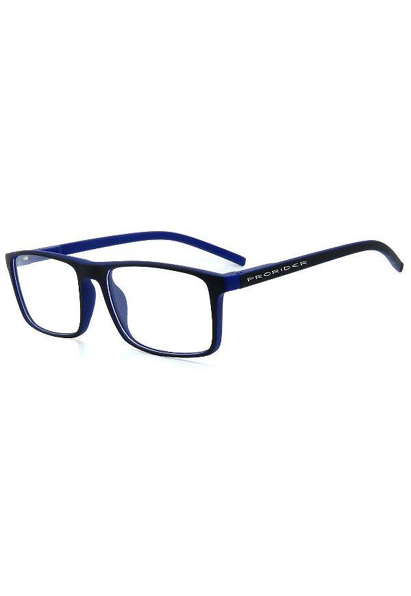 Óculos De Grau Prorider Preto Azul Fosco - GP047