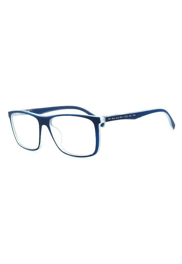 Óculos De Grau Prorider Azul e Translúcido Fosco - GP046