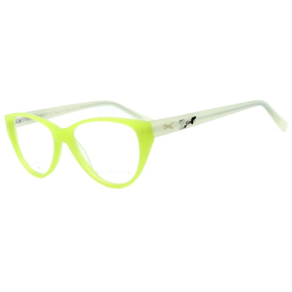 Óculos de Grau Infantil Z-JIM em Grilamid® TR-90 Gatinho Verde Florescente