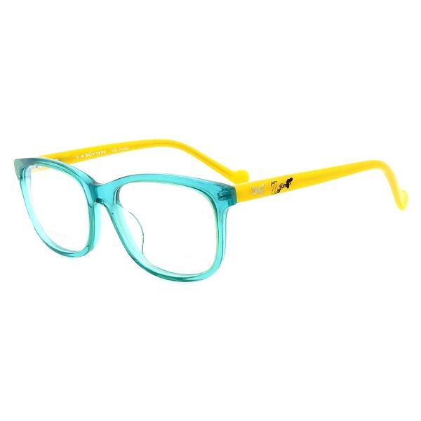 Óculos de Grau Infantil Z-JIM em Grilamid® TR-90 Quadrado Verde e Amarelo