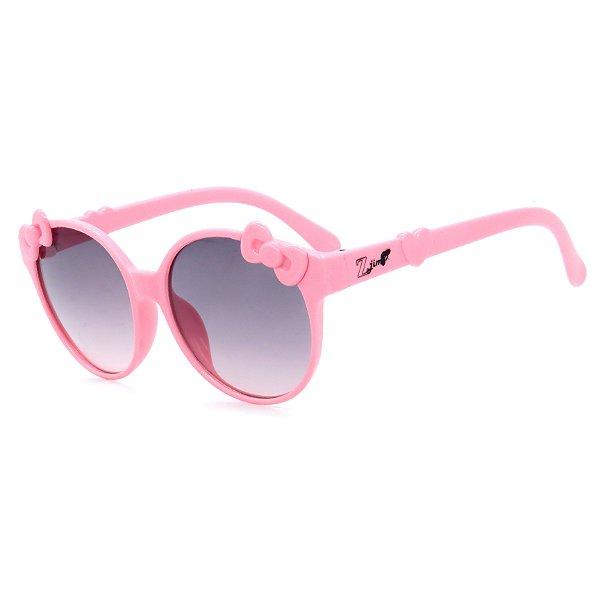 Óculos de Sol Infantil Z-JIM em Grilamid® TR-90 Redondo Rosa com Laço