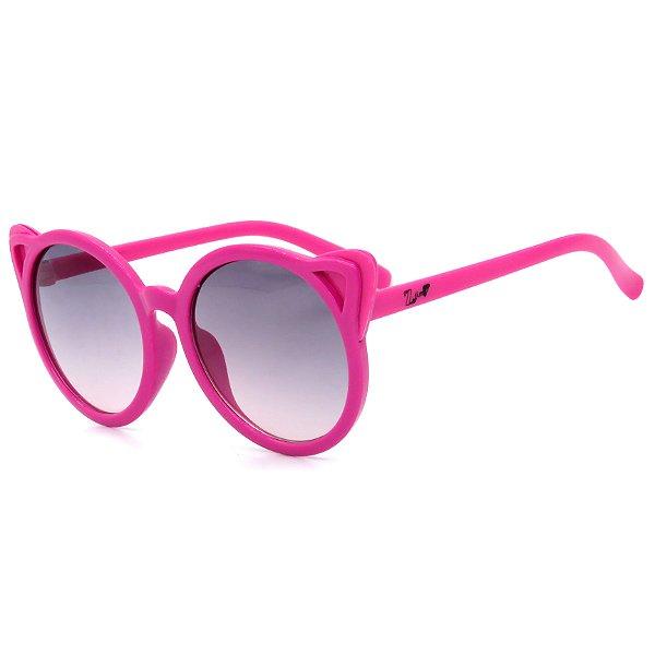 Óculos de Sol Infantil Z-JIM em Grilamid® TR-90 Redondo Rosa com Orelhas