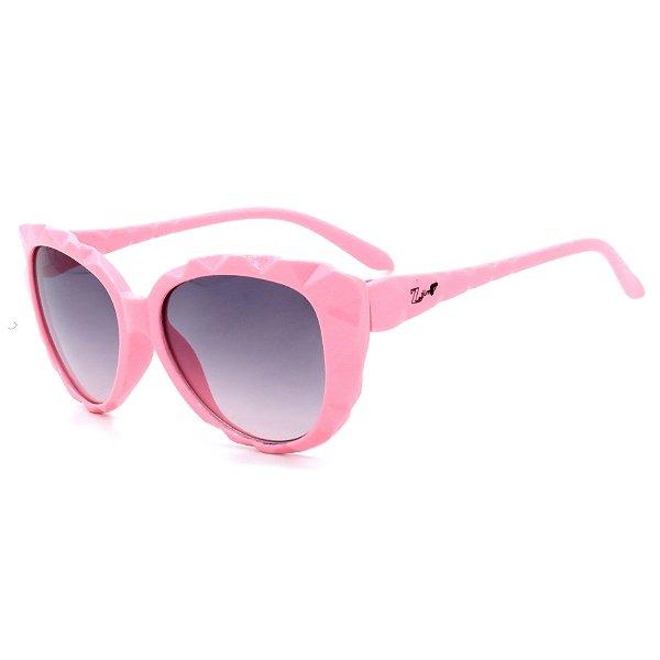 Óculos de Sol Infantil Z-JIM em Grilamid® TR-90 Gatinho Rosa Claro