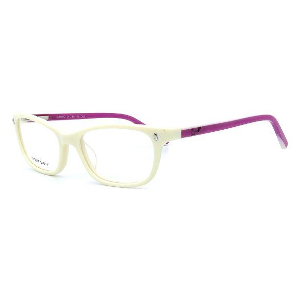 Óculos de Grau Infantil Z-JIM em Grilamid® TR-90 Quadrado Branco com Roxo