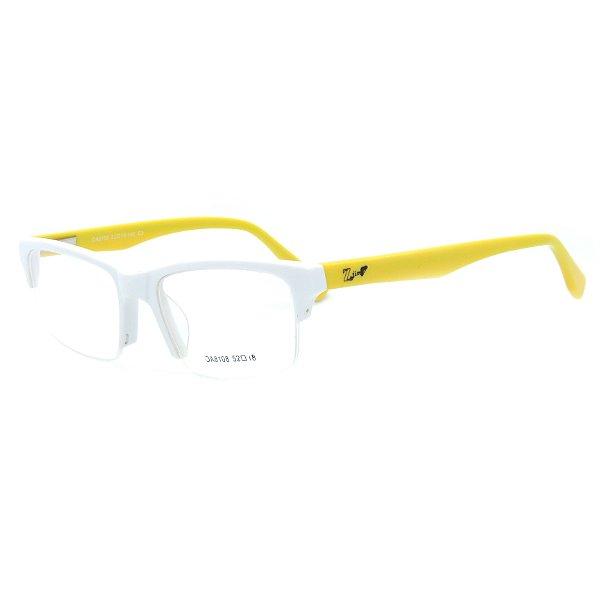 Óculos de Grau Infantil Z-JIM em Grilamid® TR-90 Quadrado Branco e Amarelo