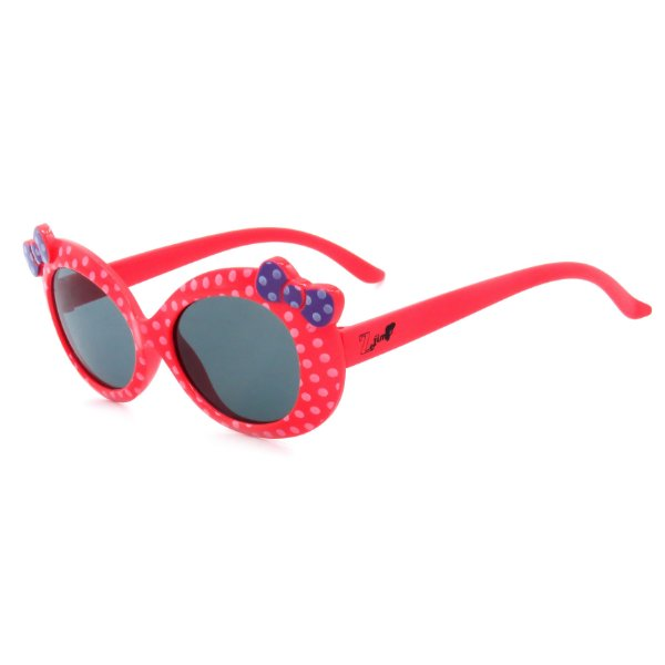 Óculos de Sol Infantil Z-JIM Casual Vermelho e Branco Laço Roxo