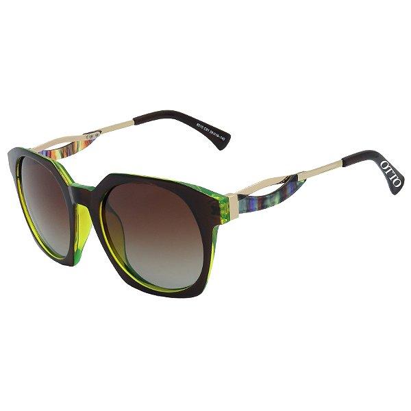Óculos de Sol OTTO Polarizado Marrom e Verde Translucido