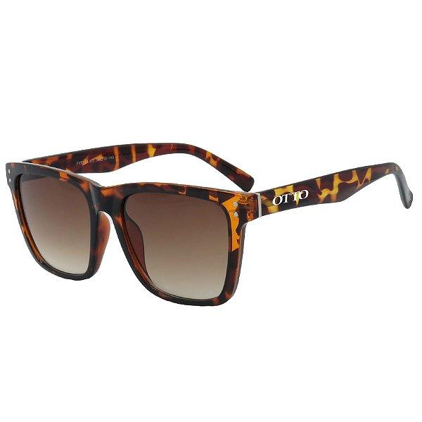 Óculos de Sol OTTO em Grilamid® TR-90 Quadrado Animal Print
