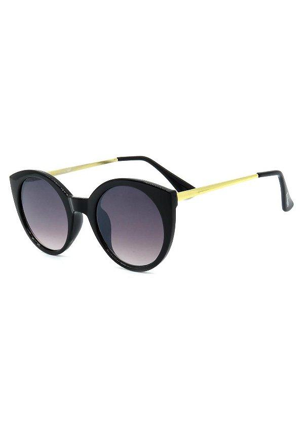 Óculos de Sol Prorider Preto Fosco com Dourado - 2977793-8