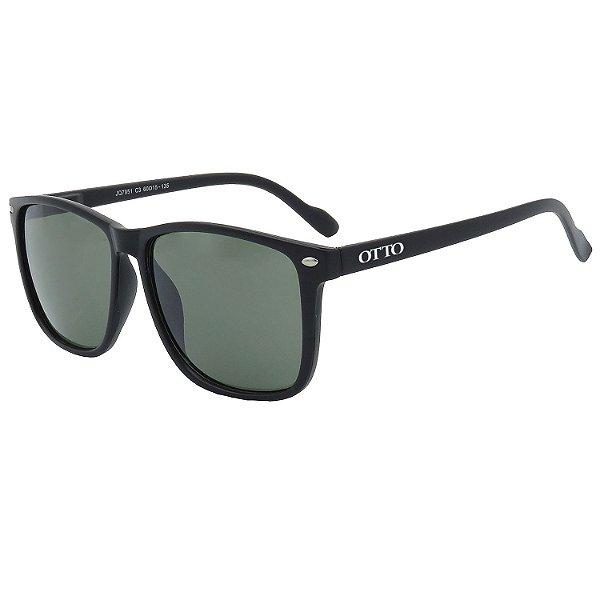 Óculos de Sol OTTO em Grilamid® TR-90 Quadrado Preto Fosco JQ7951-1