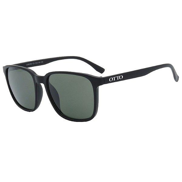 Óculos de Sol OTTO em Grilamid® TR-90 Quadrado Preto Fosco LM9356-1