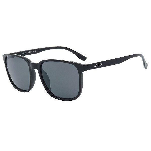 Óculos de Sol OTTO em Grilamid® TR-90 Quadrado Preto Brilho LM9356-1