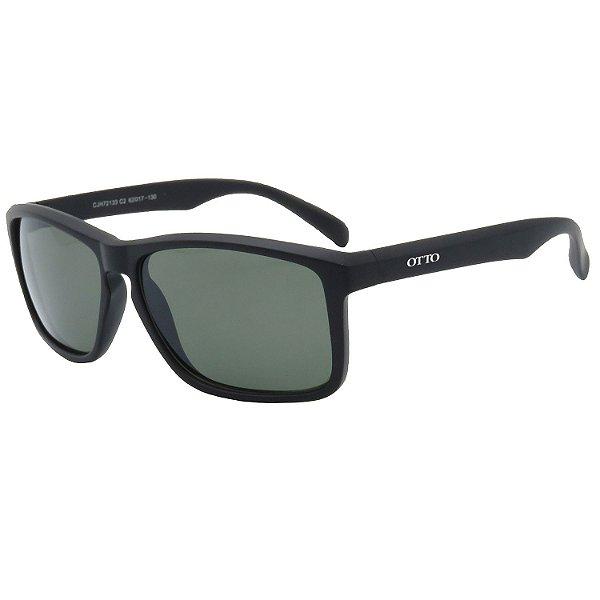 Óculos de Sol OTTO em Grilamid® TR-90 Quadrado Preto Fosco CJH72133-2