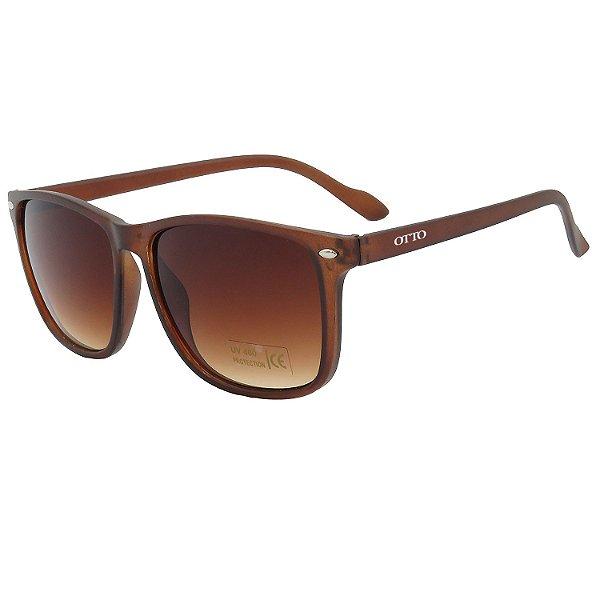 Óculos de Sol OTTO em Grilamid® TR-90 Quadrado Marrom Fosco CJH7226-4