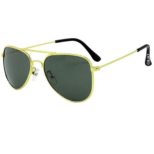 Óculos de Sol OTTO em Metal Monel® Aviador Dourado ZXD-2861-3
