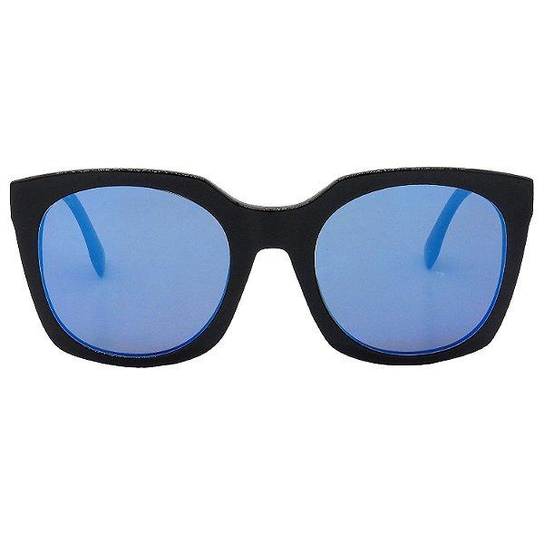 Óculos de Sol BellClover em Grilamid® TR-90 Quadrado Preto e Espelhado