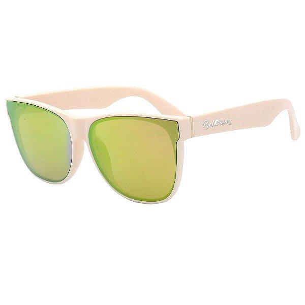 Óculos de Sol BellClover® em Grilamid® TR-90 Quadrado Rosa e Espelhado