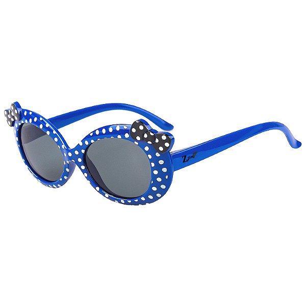 Óculos de Sol Infantil Z-JIM Redondo Azul Bolinha Branca