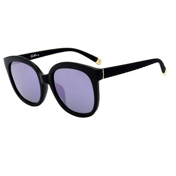 Óculos de Sol BellClover em Grilamid® TR-90 Preto Fosco Lente Espelhada