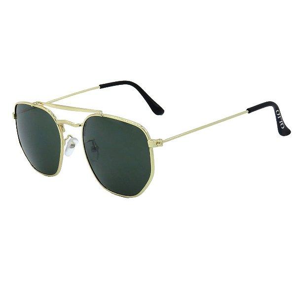 Óculos de Sol OTTO em Metal Monel® Redondo Dourado