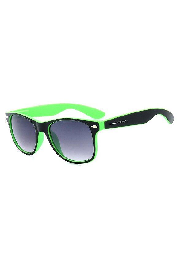 Óculos de Sol Prorider Preto e Verde Fosco com Lente Degrade - W1-65-3