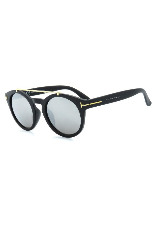 Óculos de Sol Prorider Preto Fosco com Lente Espelhada - YD1606C1