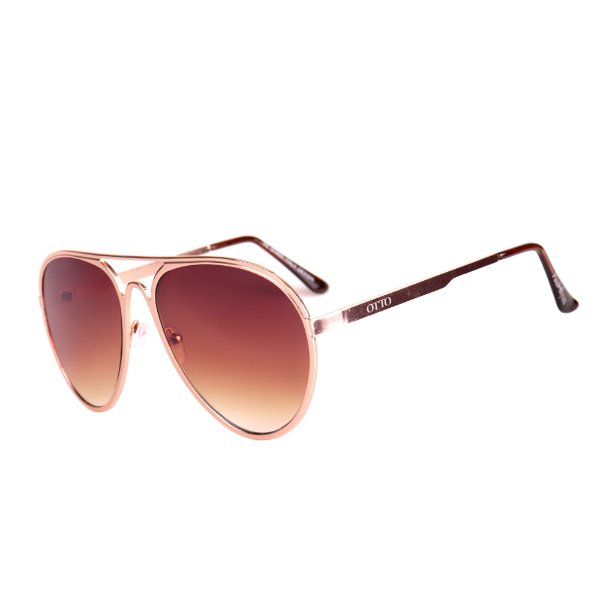 Óculos de Sol OTTO em Metal Monel® Aviador Rosê