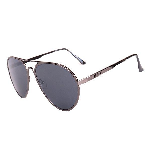 Óculos de Sol OTTO em Metal Monel® Aviador Grafite