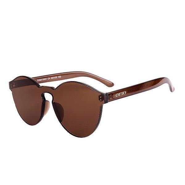Óculos de Sol OTTO Policarbonato Único Redondo Marrom