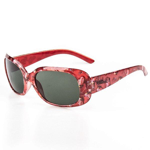 Óculos de Sol Infantil Red Hot Retangular Menina