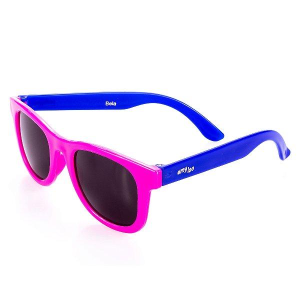 Óculos de Sol Amy Loo Quadrado Azul e Pink