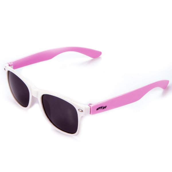 Óculos de Sol Amy Loo Quadrado Branco e Rosa