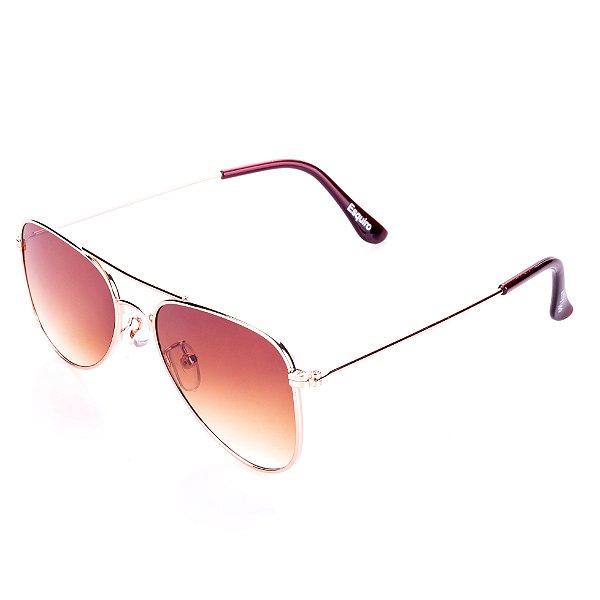 Óculos de Sol Amy Loo Aviador Marrom