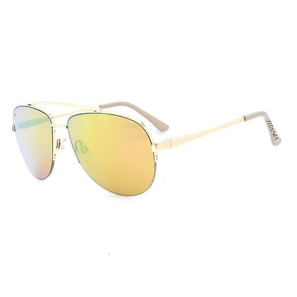 Óculos de Sol Titânia Redondo Dourado