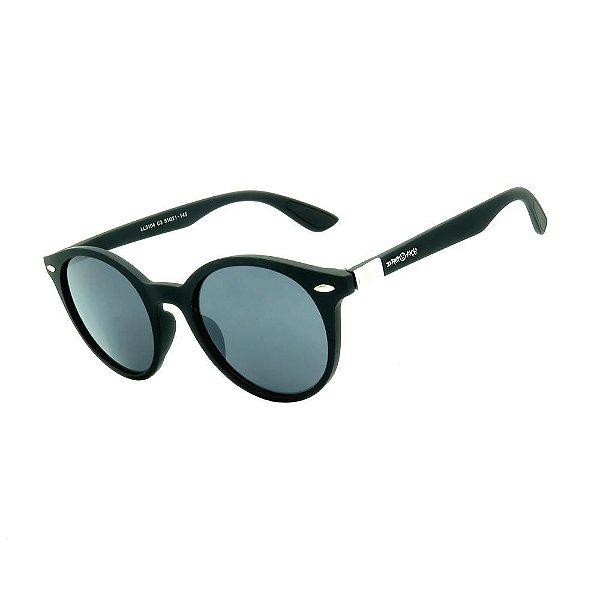 Óculos de Sol Dark Face Preto Fosco com Lente Fumê  - LL3104C3
